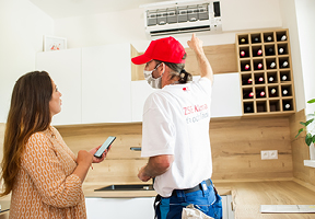Inštalácia klimatizácie u zákazníka