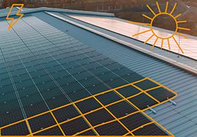 Inštalácia veľkej fotovoltickej elektrárne